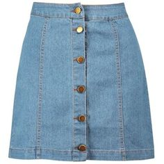 Boohoo Hollie Button Front Denim Mini Skirt