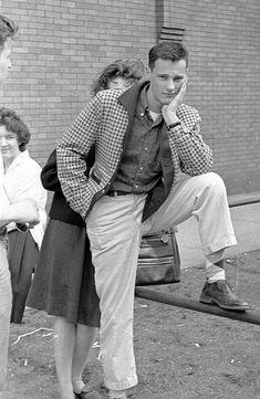 Stylish Guy - Wicker Park 1959   1950s pants and sports jacket coat   50s menswear