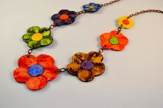 Paper Jewelry  Necklace by AranhaComprida on Etsy