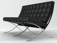 Knoll Seat 3d model | Ludwig van der Mies