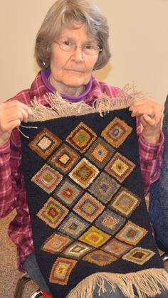 2015 Show & Tell - Woolwrights Rug Hooking Guild check out the fringe