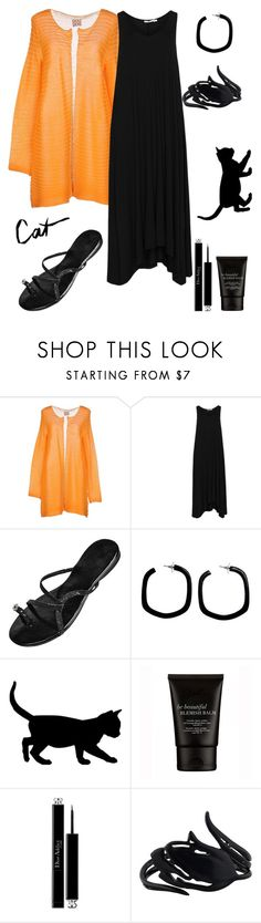 """""""Meow!"""" by schenonek ❤ liked on Polyvore featuring DOUUOD, Mat, NOVICA, Christian Dior and Oscar de la Renta"""