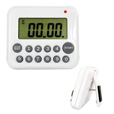White Digital LCD Kitchen Cooking Sport CountDown Timer Clock 12 Key 99 Minute #Affiliate