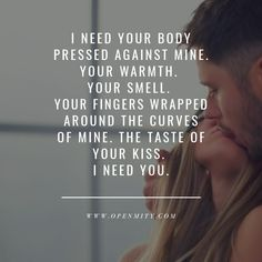 Sexy and naughty quotes to him or her can make a day, even Monday :) we have collected 15 most popular sexy and naughty quotes of our OpenMity list. Enjoy:* #naughtyquote #sexyquote #dirtymessages #flirtymessages Romantic Quotes For Him, Flirty Quotes For Him, Sexy Love Quotes, Soulmate Love Quotes, Naughty Quotes, Love Yourself Quotes, Dream Quotes, Quotes To Him, Amazing Boyfriend Quotes