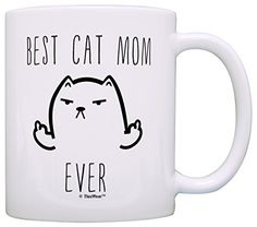 This funny cat mug is a perfect gift for a cat owner with a sense of humor. This traditional 11 ounce white ceramic coffee mug is perfect for any hot beverage. Wide mouth and large C-handle allow for easy, every day use. Whether drinking your morning coffee at work, or sipping on a hot cup of... - http://kitchen-dining.bestselleroutlet.net/product-review-for-funny-cat-gifts-best-cat-mom-ever-rude-cat-lovers-cat-memes-gift-coffee-mug-tea-cup-white/