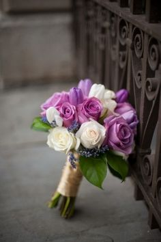 Vintage Gathering Wedding Flowers: Purple-Rose-Bouquet, I've never seen purple roses