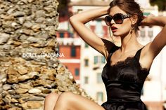 #BiancaBalti in Dolce&Gabbana SS2012 #eyewear and #dress. I loved that campaign dedicated to the Sicilian folk! ♡