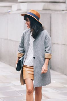 Love how camel hues have been paired with grey shades.