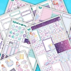 Feminine Sweet Back To School Weekly Sticker Kit // 6 Page