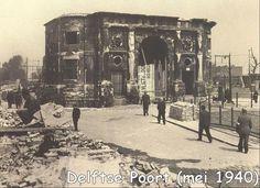 Rotterdam Delftse Poort 1940 (De Duitsers... weer die Duitsers!) Rotterdam, Old City, Delft, Brooklyn Bridge, Netherlands, Holland, Skyline, Europe, World