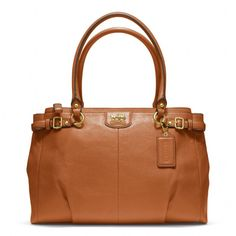 Madison leather kara carryall by COACH $358.00