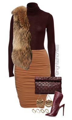 """Autumn"" by highfashionfiles ❤ liked on Polyvore featuring Adrienne Landau, Marie Turnor and ASOS"