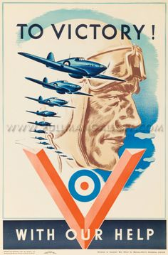 Canadian Air Force poster 'To Victory ! With Our Help', dated 1941