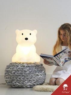 Polar Bear Lamp, Nanuk Lamp by Mr Maria Little People, Little Ones, Polar Cub, Polar Bears, Room Deco, Deco Kids, Nursery Design, Cool Lighting, Kids Lighting