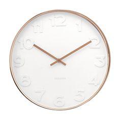 White and Copper Clock