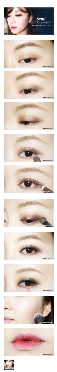 [sns] blog_semi smoky make up tutorial  주간아웃풋 김정원_ 스모키 메이크업 듀토리얼