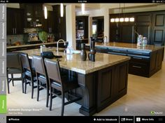 Like the cabinet colors .... Lighter counters
