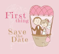 First Thing Logo - Hot Air Baloon, Love Wedding