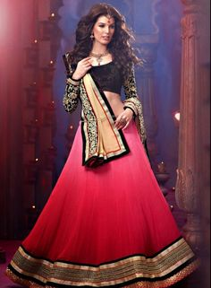 Pink Georgette Shaded Party Wear Lehenga Choli  .  Buy at - http://www.gravity-fashion.com/women/lehenga/pink-georgette-shaded-party-wear-lehenga-choli.html