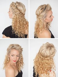 30 Curly Hairstyles in 30 Days – Day 17 (Hair Romance) 30 coiffures frisées en 30 jours – jour 17 Curly Hair Styles, Medium Hair Styles, Natural Hair Styles, Medium Curly, Chic Hairstyles, Layered Hairstyles, Curly Hairstyles Tutorial, Pretty Hairstyles, Hairstyle Ideas