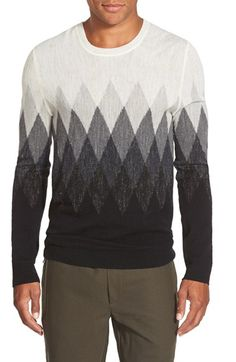 Vince+Argyle+Jaspé+Wool+&+Linen+Crewneck+Sweater+available+at+#Nordstrom