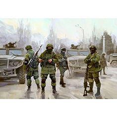 Watercraft Model Kits - ZVE3665 135 Zvezda Modern Russian Infantry Polite People Figure Set MODEL BUILDING KIT >>> Learn more by visiting the image link.