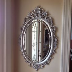 Antique mirror I painted silver for a client