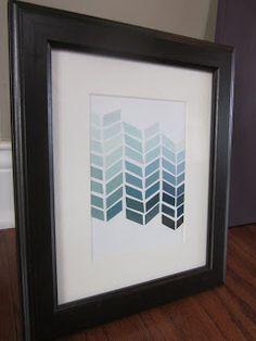 House Stuff Works: Paint Chip Art