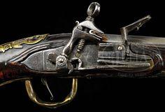 "1740-Pistola Sarda amb un pany Miquelet ""a la Romana""."