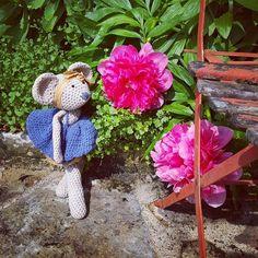 Les premières pivoines  #plassard #plassardmaritime #crochet #coton #lin #rosielapetitesouris #cotonetgourmandises #pivoines  #fleurs #spring #