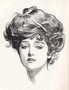 Charles Dana Gibson was an illustrator and he drew illustrations for the humor magazine,Life. He created from his imagination an ideal American woman; tall, with dark hair and a swanlike neck. His Gibson girl was elegant, graceful and beautiful and virtually overnight, his illustrations became the ideal of American women.