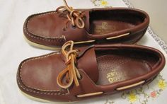 These were my first really 'preppy' shoes. My older sisters wore them so it was only natural I would like them and wear them too. In the 80's Sebago make original Docksides in just one color - brown with natural leather laces. The toe was also 'square' as opposed to the round toe that Docksides sport today. My girlfriends and I also would (ocassionally) roll our laces into 'pig-tails' so we could just slip them on and go anywhere.