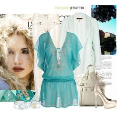 How To Wear turquoise dream Outfit Idea 2017 - Fashion Trends Ready To Wear For Plus Size, Curvy Women Over 20, 30, 40, 50