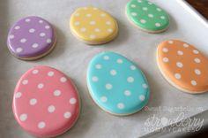 easter idea, holiday, polka dots, egg cookies, polkadot, color, dot easter, easter eggs, easter cookies