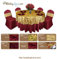 Sophisticated Design For A Wedding Birthday Or Retirement Party Colors Burgundy And Gold
