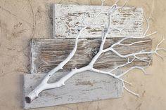 BarnWood resistido con colgante de pared de rama por BarnwoodBlooms