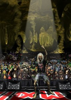 some art by derek riggs Heavy Metal Bands, Heavy Metal Art, Metal Fan, Iron Maiden Band, Hard Rock, Bruce Dickinson, Power Metal, Death Metal, Woodstock