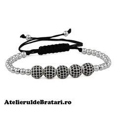Bratara macrame cu 5 bile cu cristale Zirconia si bilute de argint 925 este impletita manual. Bratara macrame cu 5 bile cu cristale Zirconia si bilute de argint 925 este ambalata intr-o cutie cadou si poate fi cadoul ideal pentru o zi aniversara sau onomastica. 30, Pandora Charms, Beaded Bracelets, Ebay, Jewelry, Blog, Braided Bracelets, White Gold, Men