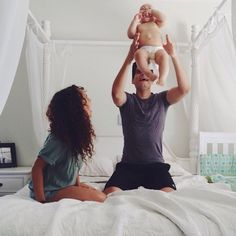 All Babies Like It When dad Tosses Them In The Air With Complete Confidence That Dad will Not Let Them Fall and Mommy Enjoys The Love she Feels With Her Family!