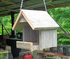 Hanging Rustic Nesting Shelter for Robins by SwampwoodCreations