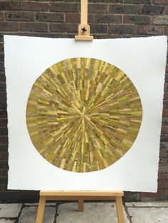 GOLD wall art from recycled chocolate foils. Strips carefully cut, selected and glued to form six ripples. Collage Artwork, Collage Artists, Mint Bar, Quality Street, Gold Wall Art, Raw Chocolate, Shades Of Gold, One Color