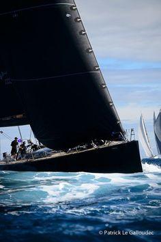 Image result for black sailing yacht