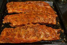 Coaste de porc marinate - la cuptor sau gratar cu sos BBQ | Savori Urbane Barbecue, Steak, Pork, Backyard, Romanian Food, Kale Stir Fry, Patio, Barrel Smoker, Bbq