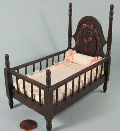 Dona Osborn - Victorian Style Crib, made in 1987; sold on ebay for $26