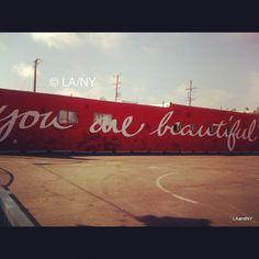 Remember this... #youarebeautiful #venice #streetart #graffiti #verveofla™