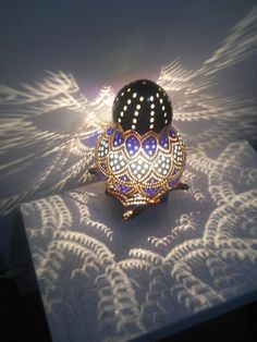 Shangai Blue KingHandmade Gourd Art Lantern by studiotempera, $145.00