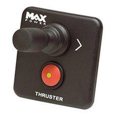 Panel de Control Mini con joystick Max Power, medidas 65 x 65 mm. Todos los paneles están especialmente diseñados para su uso con la gama completa de hélices de maniobra Max Power. Los paneles se instalan fácilmente realizando un simple orificio con una s