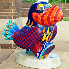 "Lied Center Jayhawk  ""Mardis Gras on the Kaw Hawk"" by Janet Perkins. #Jayhawks on Parade"