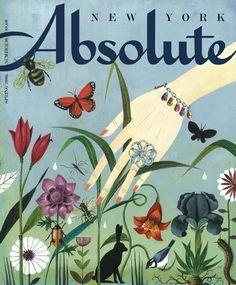 o.hajek. absolute. cover illustration, flowers