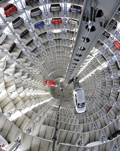 Car Silos at the Autostadt, Wolfsburg, Germany